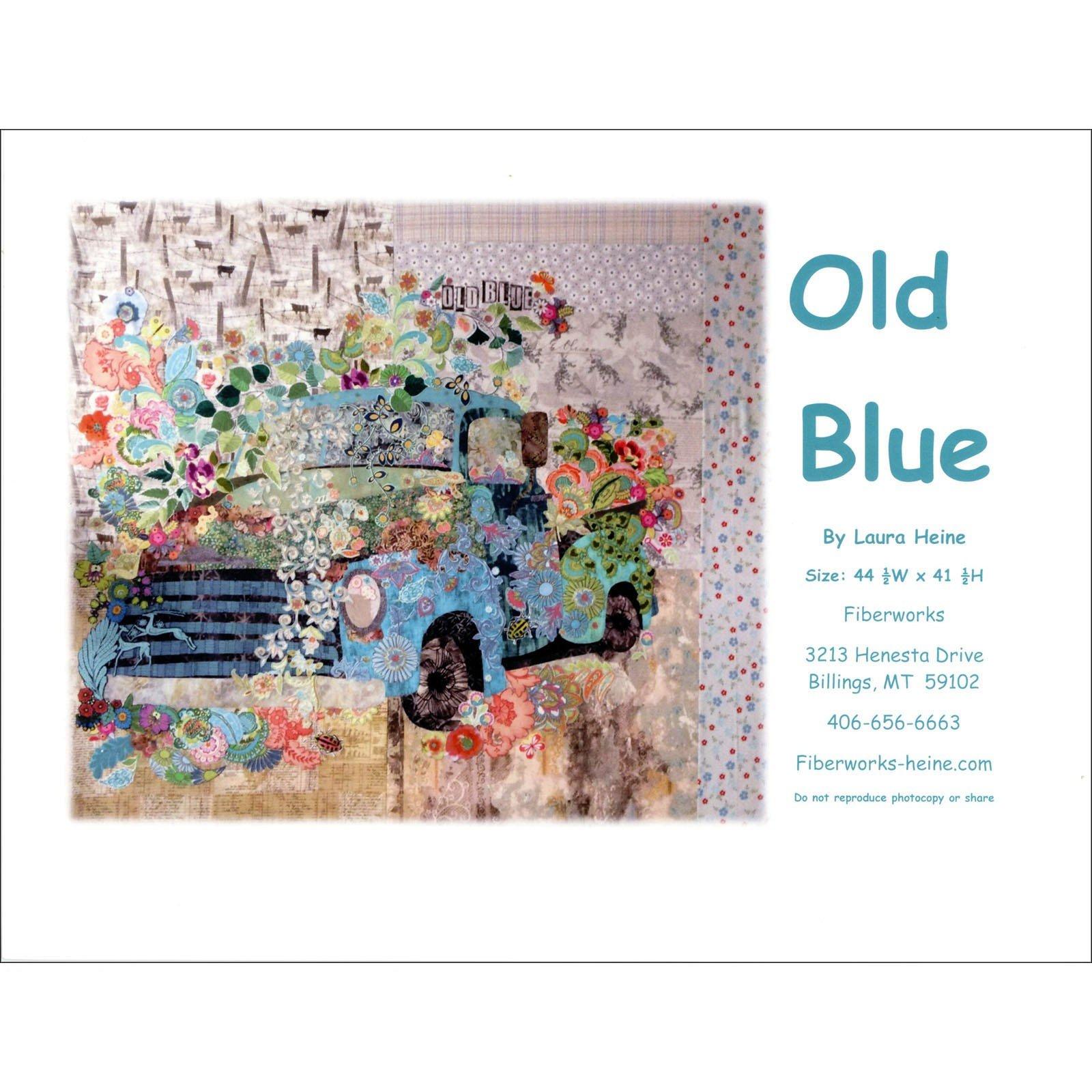 Old Blue - Collage Pattern by Laura Heine