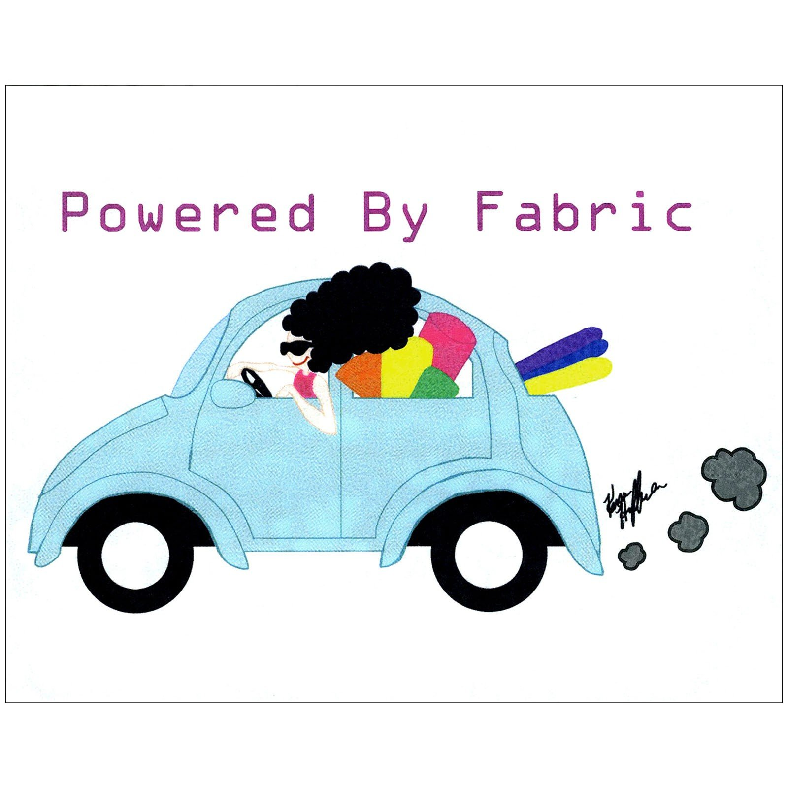 DECAL -  POWERED BY FABRIC