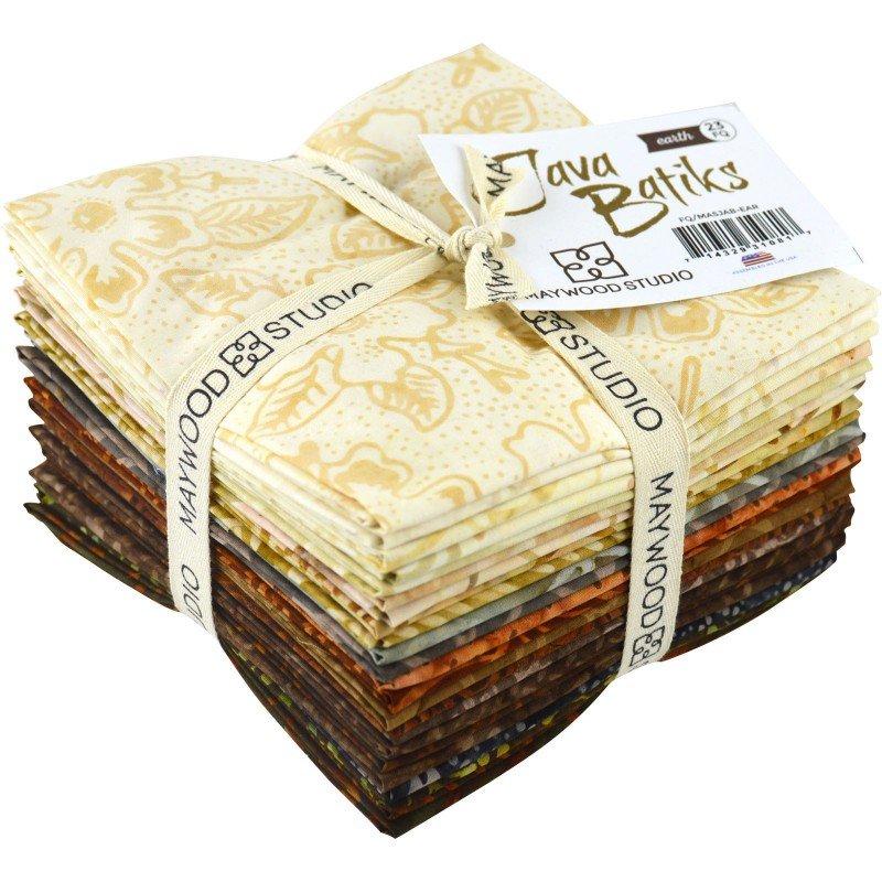 Java Batiks - 23 Fat Quarters - Earth