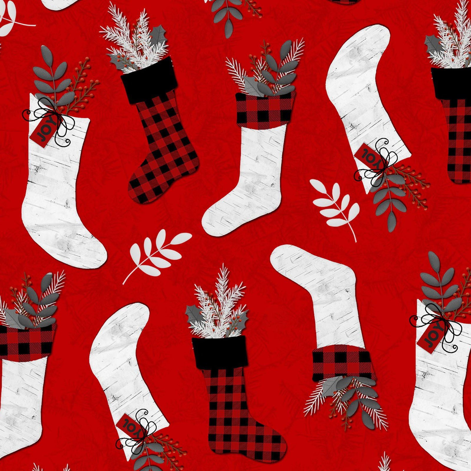 Holiday Homecoming - Stockings on Red
