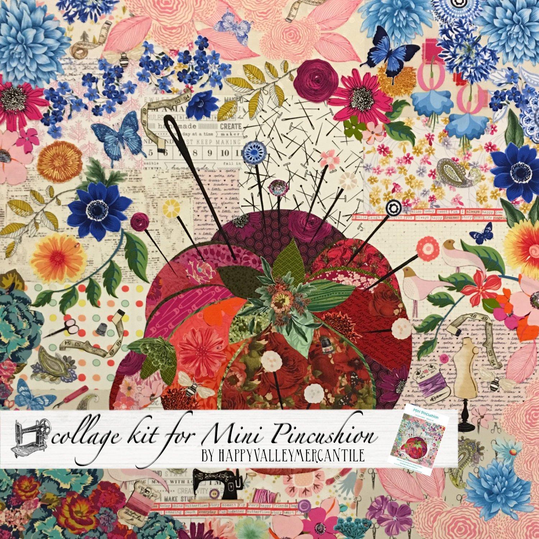 Mini pincushion collage quilt - Kit
