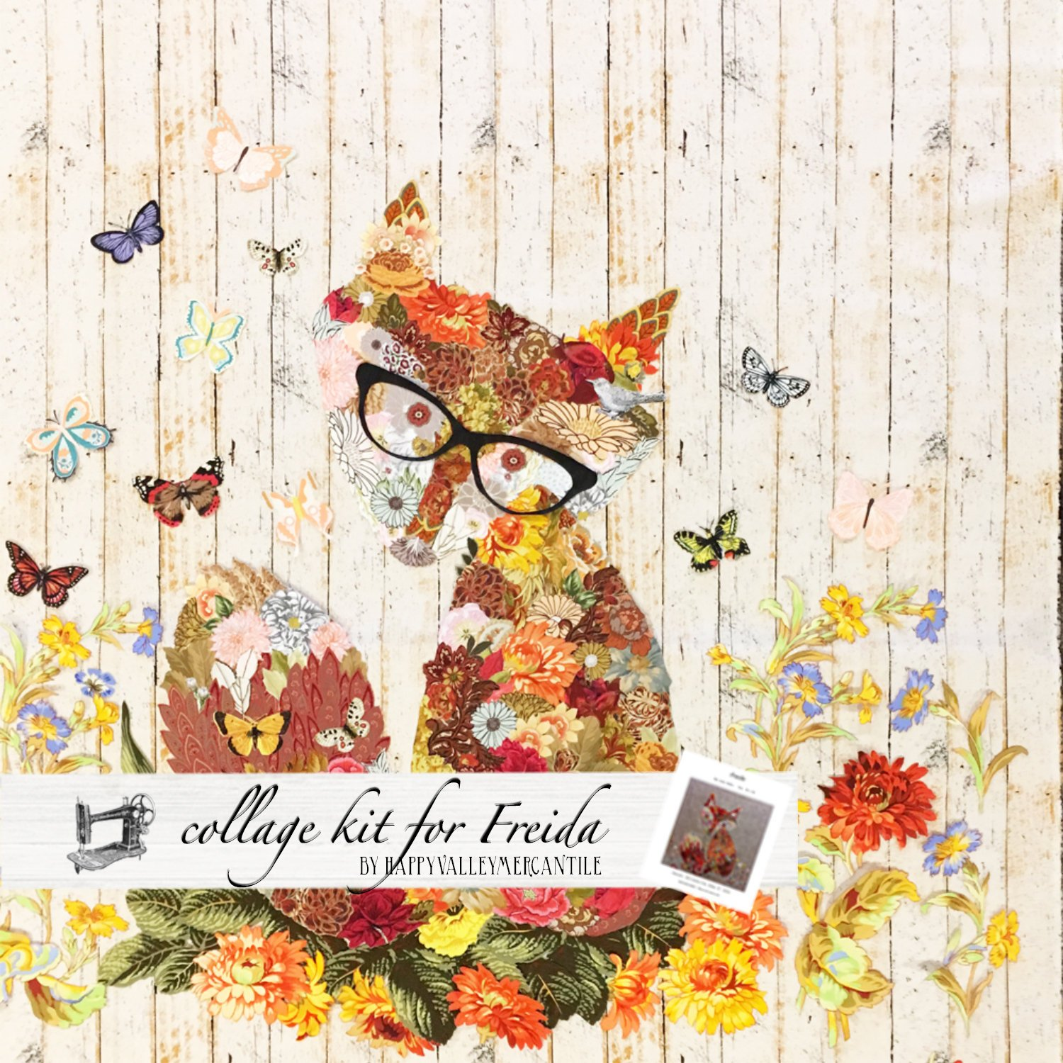 Freida Collage Quilt - Kit