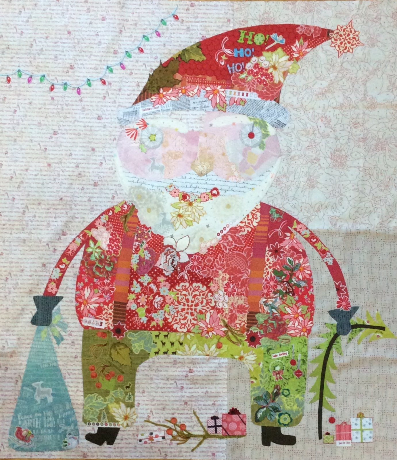 Nick Santa Collage Pattern By Laura Heine