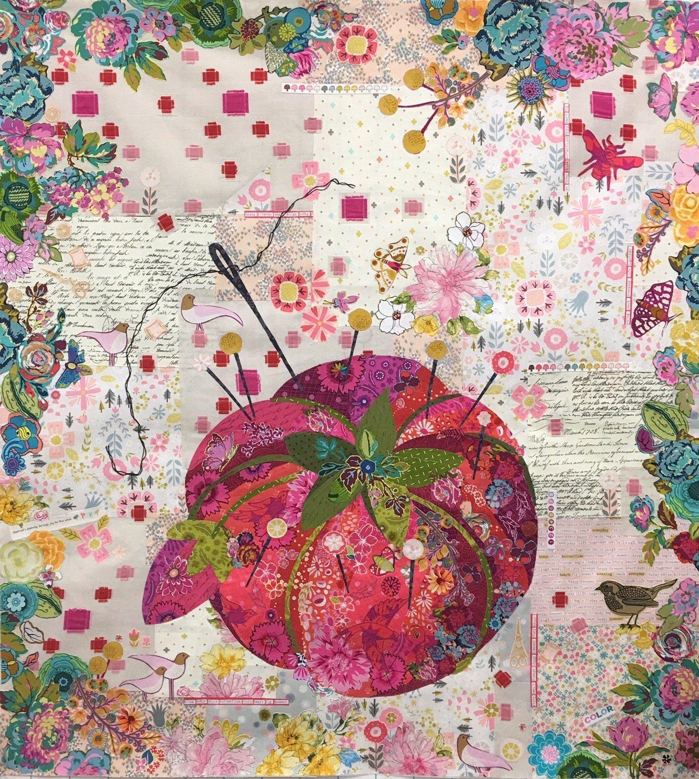 Pincushion Collage Pattern by Laura Heine
