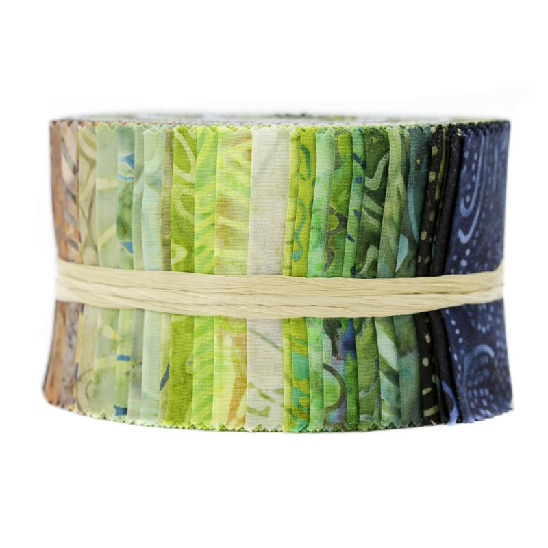 Rain Forest - Best of Malam Batiks Spindle Strips 2.5