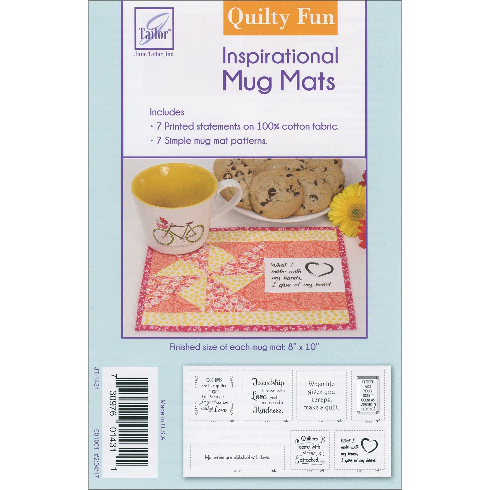 Pattern - Inspirational Mug Mats -- Quilty Fun