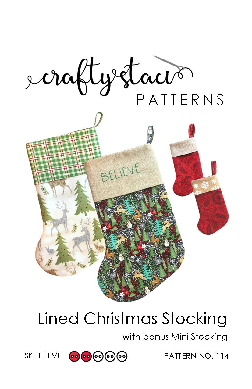 CS - Lined Christmas Stocking - Pattern