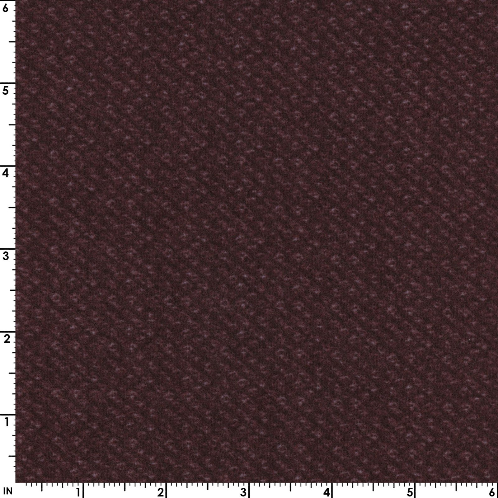 Deep Berry - Poodle Bucle - Woolies Flannel