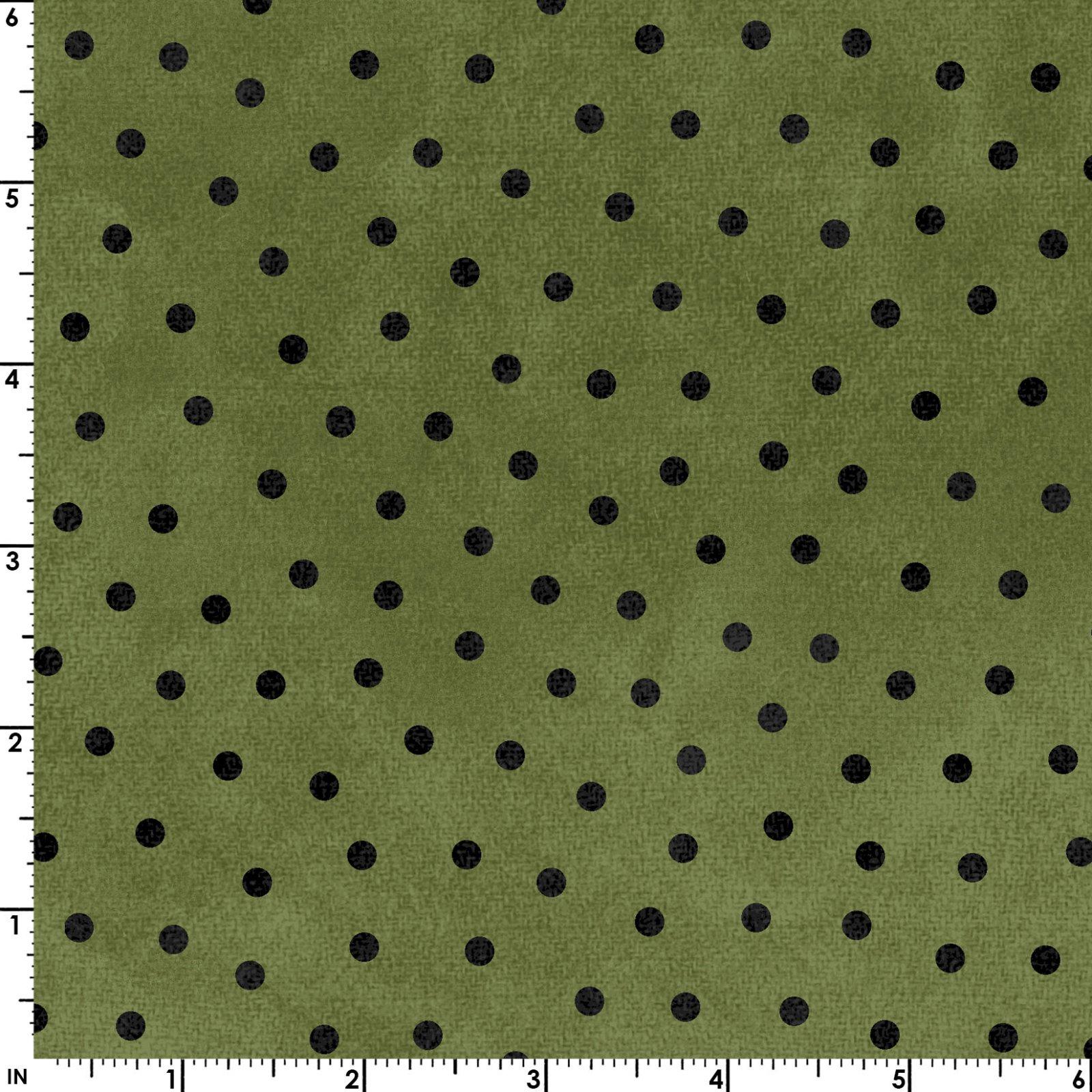 Polka Dots - Green - Woolies Flannel