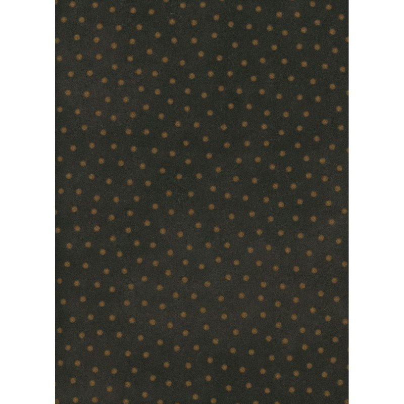 Woolies Flannel - Polka Dots - Espresso