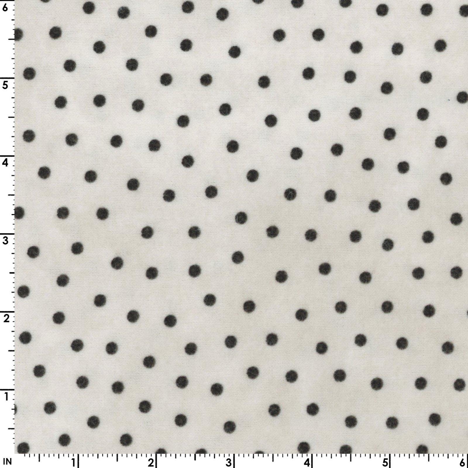 Polka Dots - Cream - Woolies Flannel