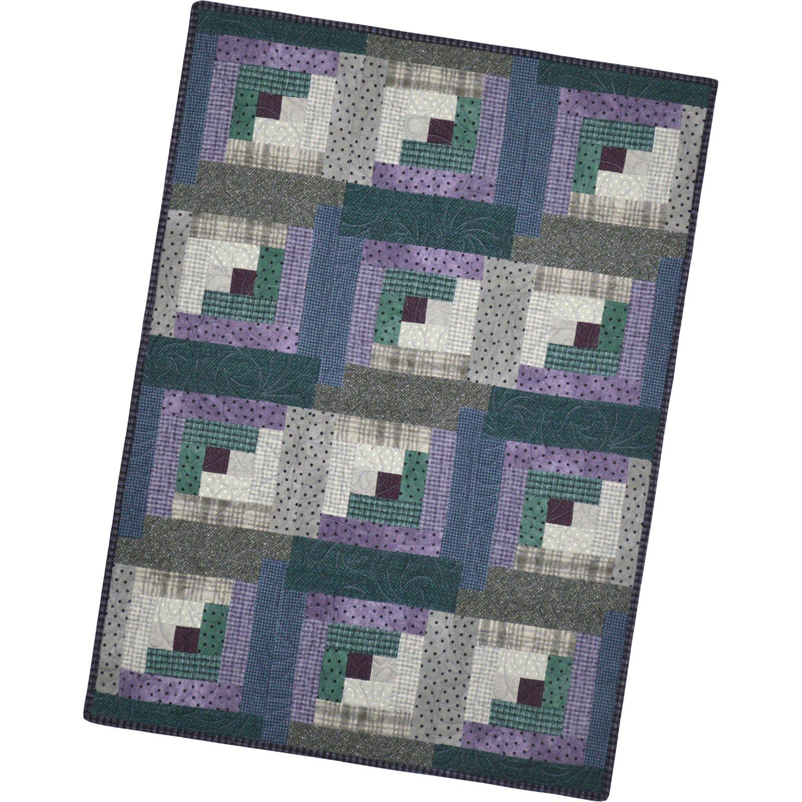 Pod  - Berrymint - Woolies Flannel - 12 Block Log Cabin