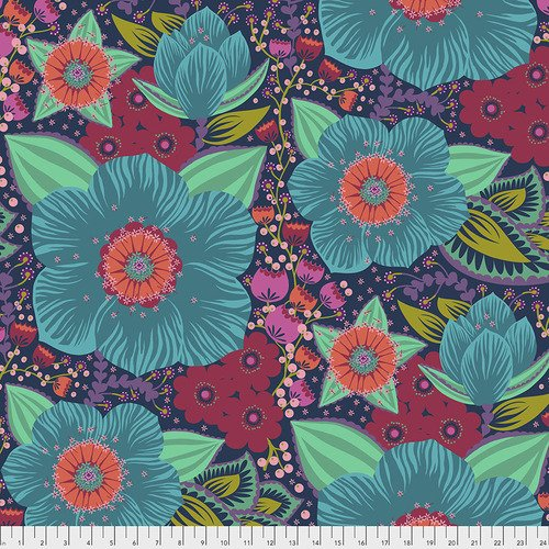 Wheelhouse Backing Fabric - Honorable Mention - Turquoise