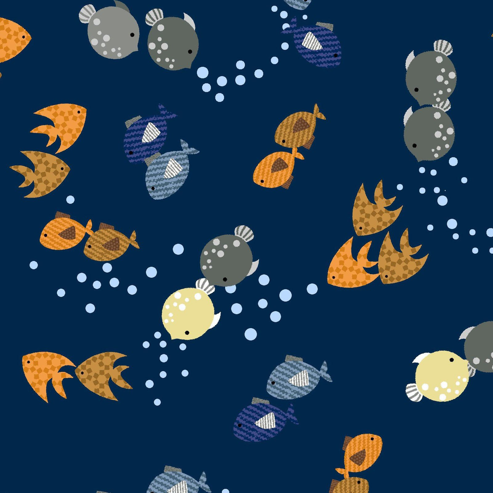 Noah's Story - Fish & Bubbles 1yd