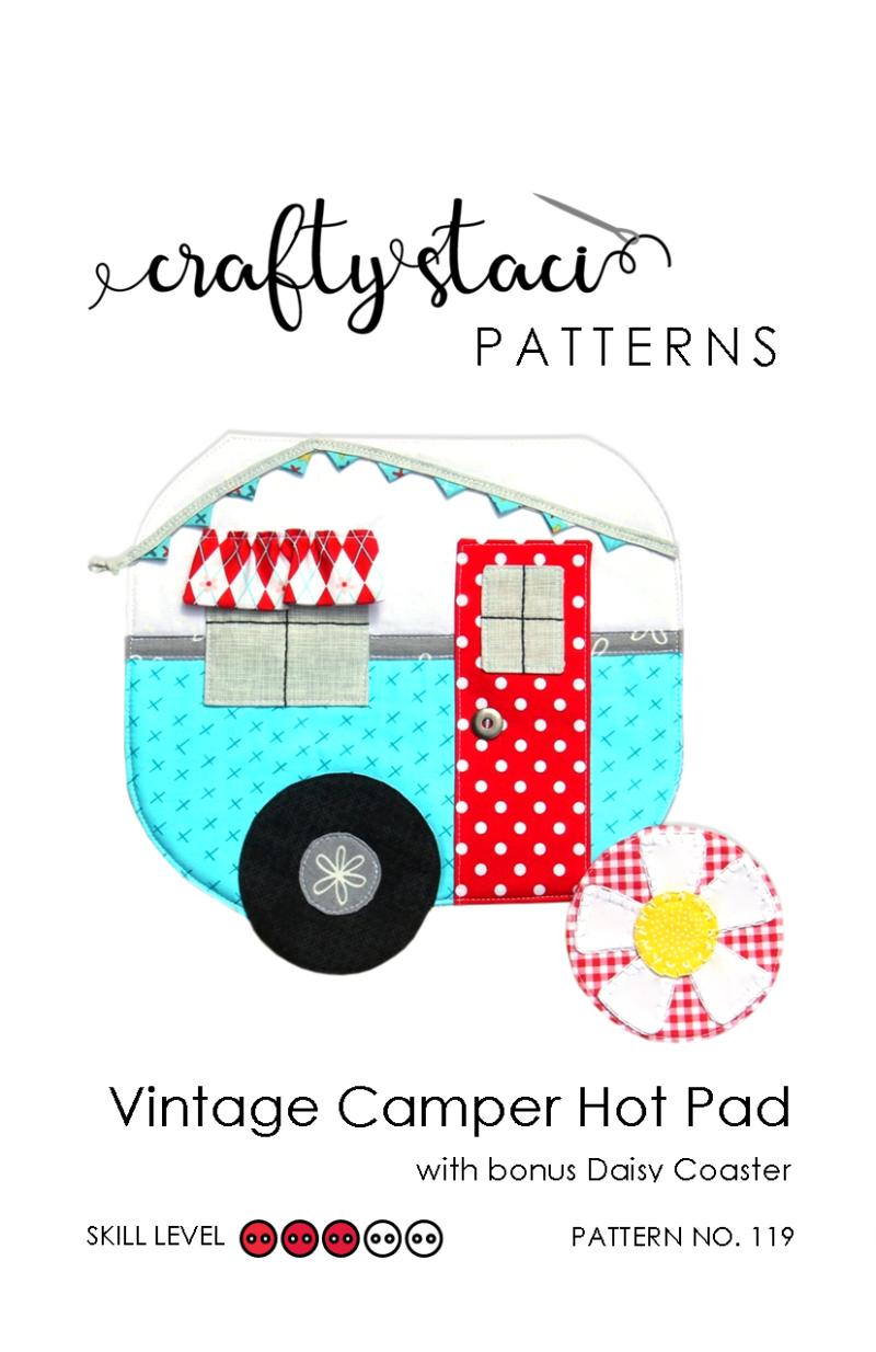 CS - Vintage Camper Hot Pad - pattern