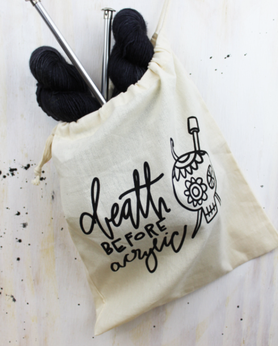 *Death Before Acrylic Project Bag