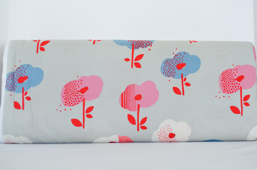 Broome Street Floral in Grey (Sheeting Fabric) from the Mecca for Moderns collection for Alexander Henry