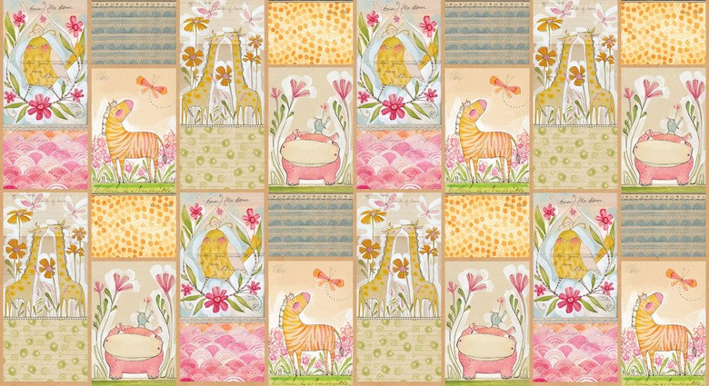 24 panelMini Menagerie (multi-panel print) by Cori Dantini from the Hello World collection for Blend #112.105.01.1
