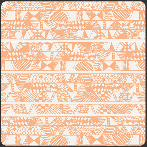 Native Band in Apricot by Sarah Watson from the Indian Summer collection for Art Gallery