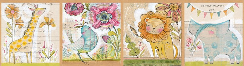 12 panel Welcoming Committee Multi by Cori Dantini from the Hello World collection for Blend #112.103.01.1