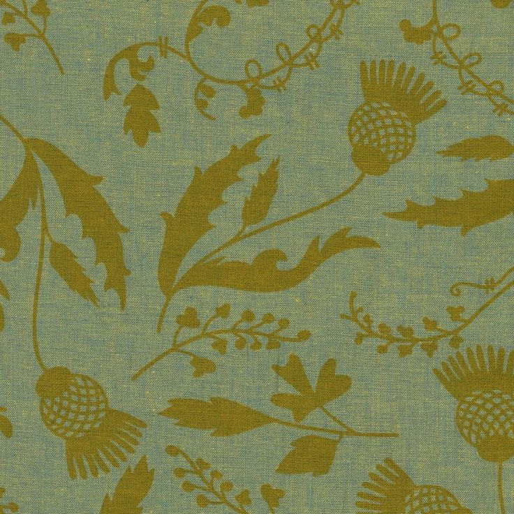 Botany in Bluegrass (Chambray Fabric) by Alison Glass from the Ex Libris collection for Andover #PC-7866-LG