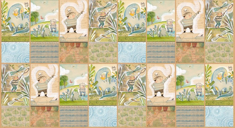 12 panelThe Wonderers in Multi by Cori Dantini from the The Adventurers collection for Blend #112.108.02.1