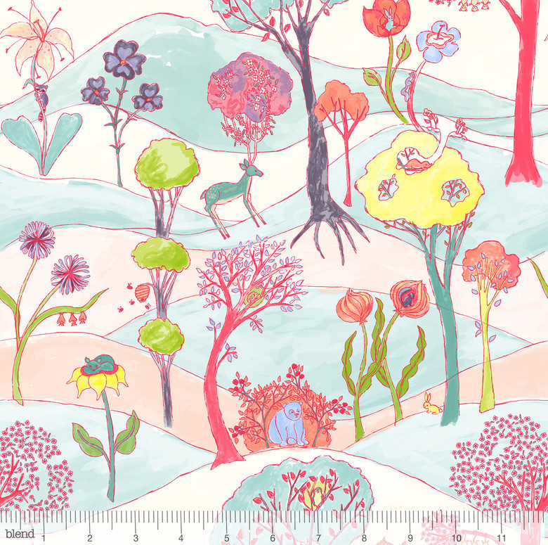 Friends in White by Katy Tanis from the Garden Party collection for Blend #124.101.01.1