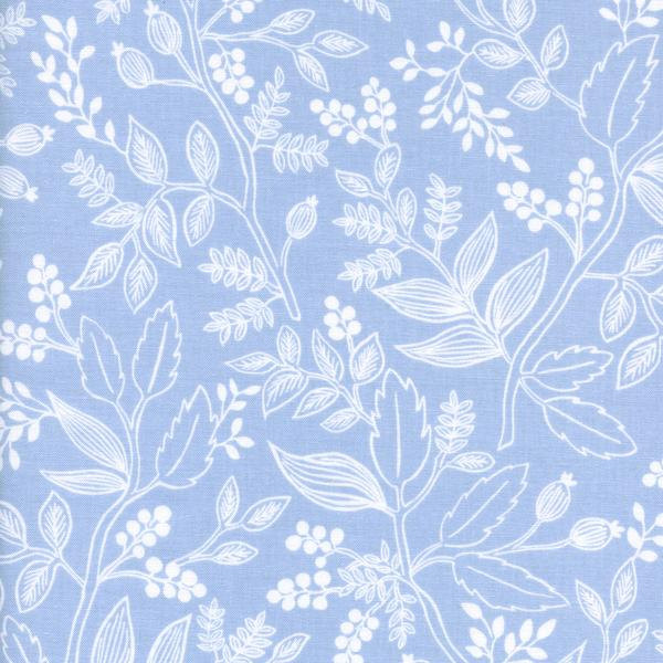 Queen Anne in Pale Blue by Rifle Paper Co. from the Les Fleurs collection for Cotton and Steel #8005-01