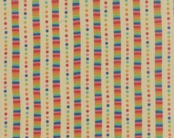 Rainbow Stripe in Sand by Momo from the Flying Colors collection for Moda #33065 11