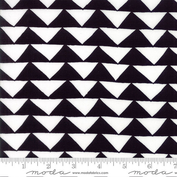 Triangles in Black on White by Gingiber from the Thicket collection for Moda #48201-11