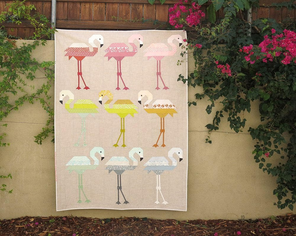 Florence Flamingo Pattern by Elizabeth Hartman #EH031