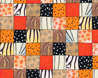 Animal Skin Patch in Orange from the The Migration collection for Quilting Treasures #1649 24977 o 150