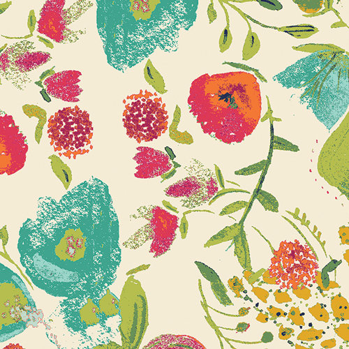 Budquette in Abloom (Rayon Fabric) by Bari J from the Fusions Abloom collection for Art Gallery #R-405