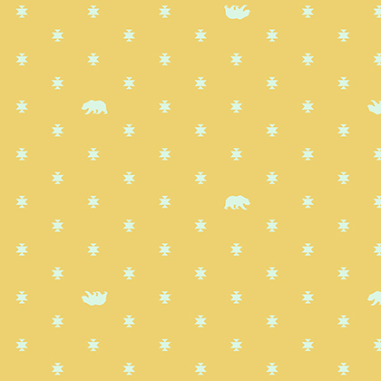 Bear Hug in Sunkissed by Tula Pink from the Spirit Animal collection for Free Spirit #PWTP-101-Sunki