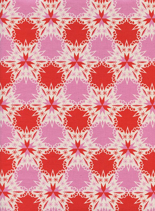 Kaliedescope in Red by Melody Miller from the Noel collection for Cotton and Steel #c5140-002