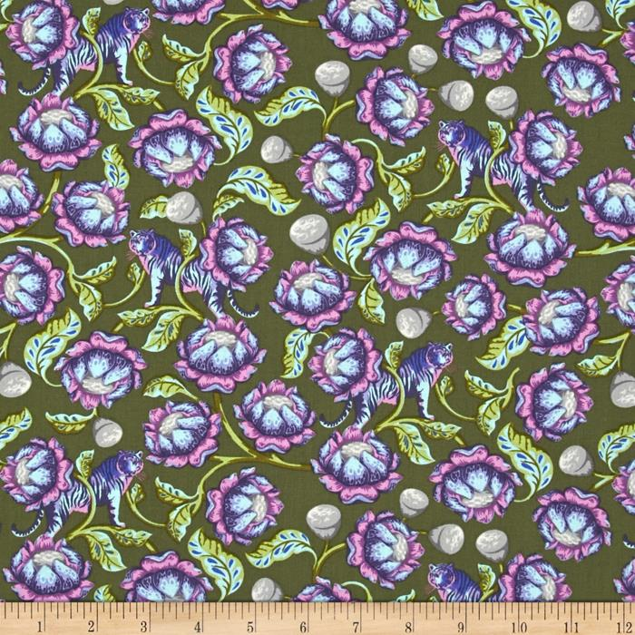 Lotus in Amethyst by Tula Pink from the Eden collection for Free Spirit #PWTP071.Ameth