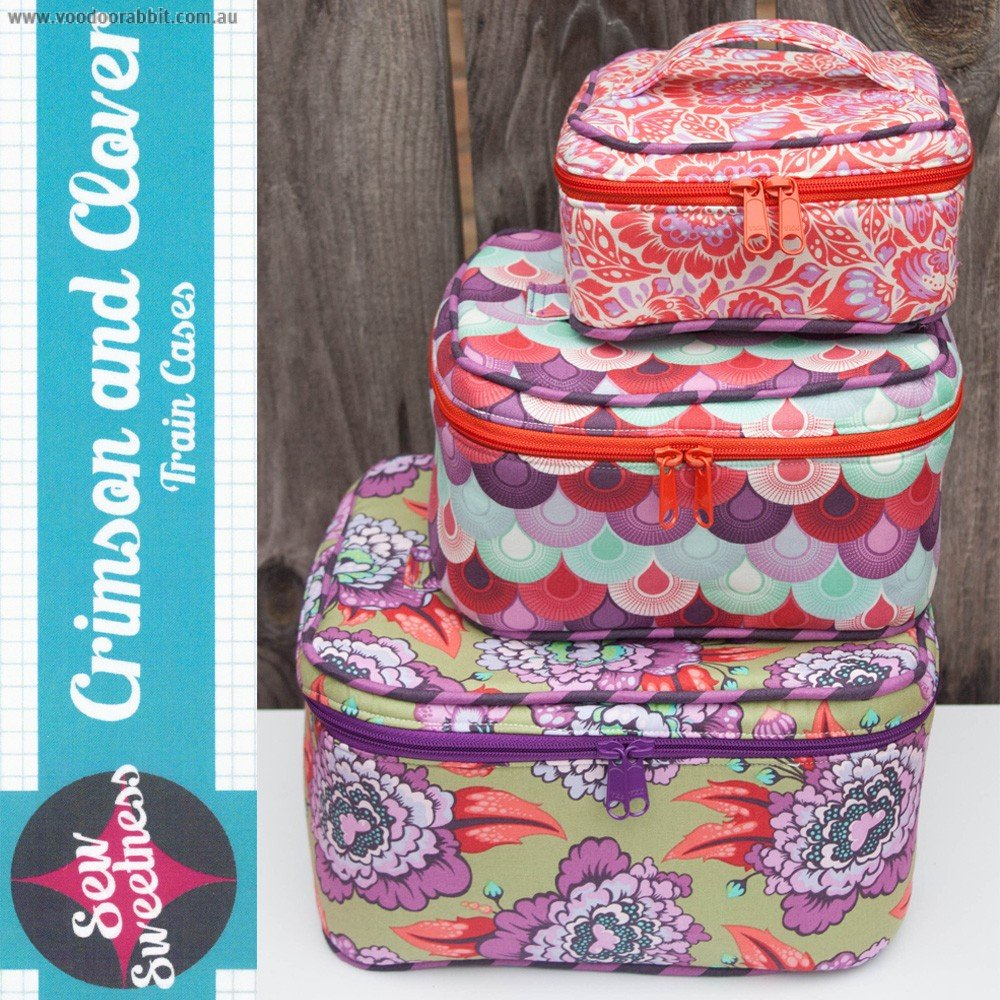 Crimson and Clover Train Cases from Sew Sweetness #SESW122