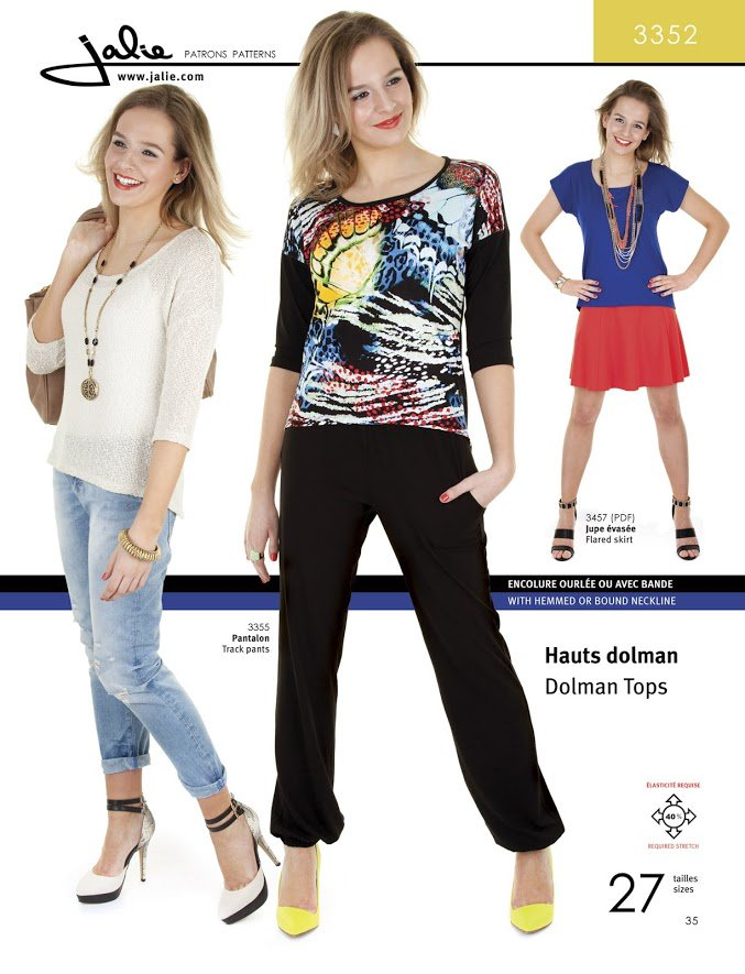 Dolman tops from Jalie