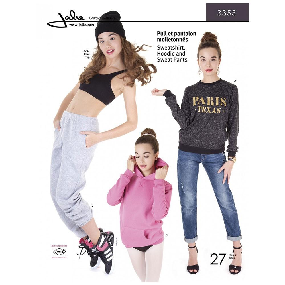 Sweatshirt Hoodie and Sweatpants from Jalie