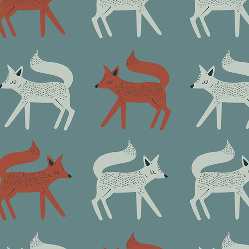 Sneaky Little Foxes by Collaboration from the Campsite collection for Art Gallery #CAP-C-9000