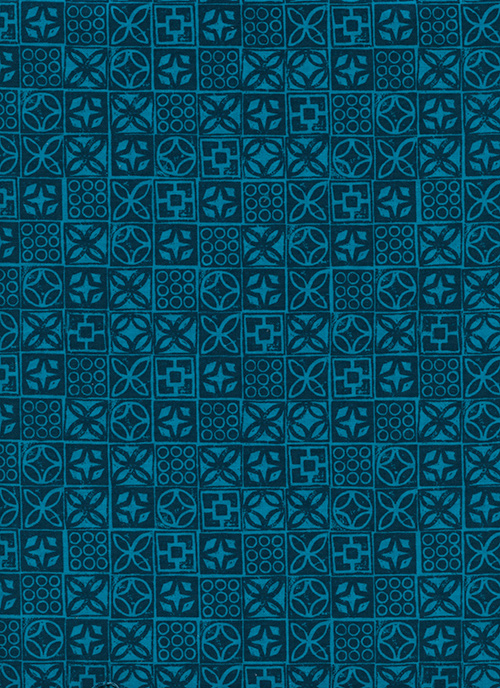 Architectural Blocks in Blue by Melody Miller and Alexia Abegg from the Poolside collection for Cotton and Steel #6016003