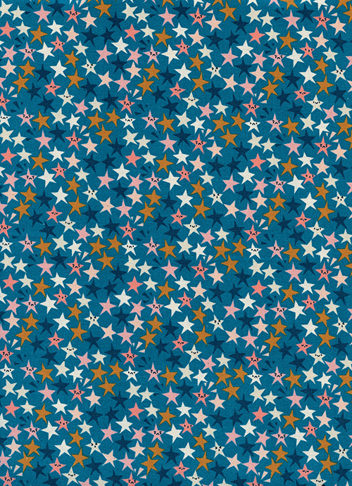 Starstruck in Teal by Rashida Coleman-Hale from the Paper Cuts collection for Cotton and Steel #1965-01