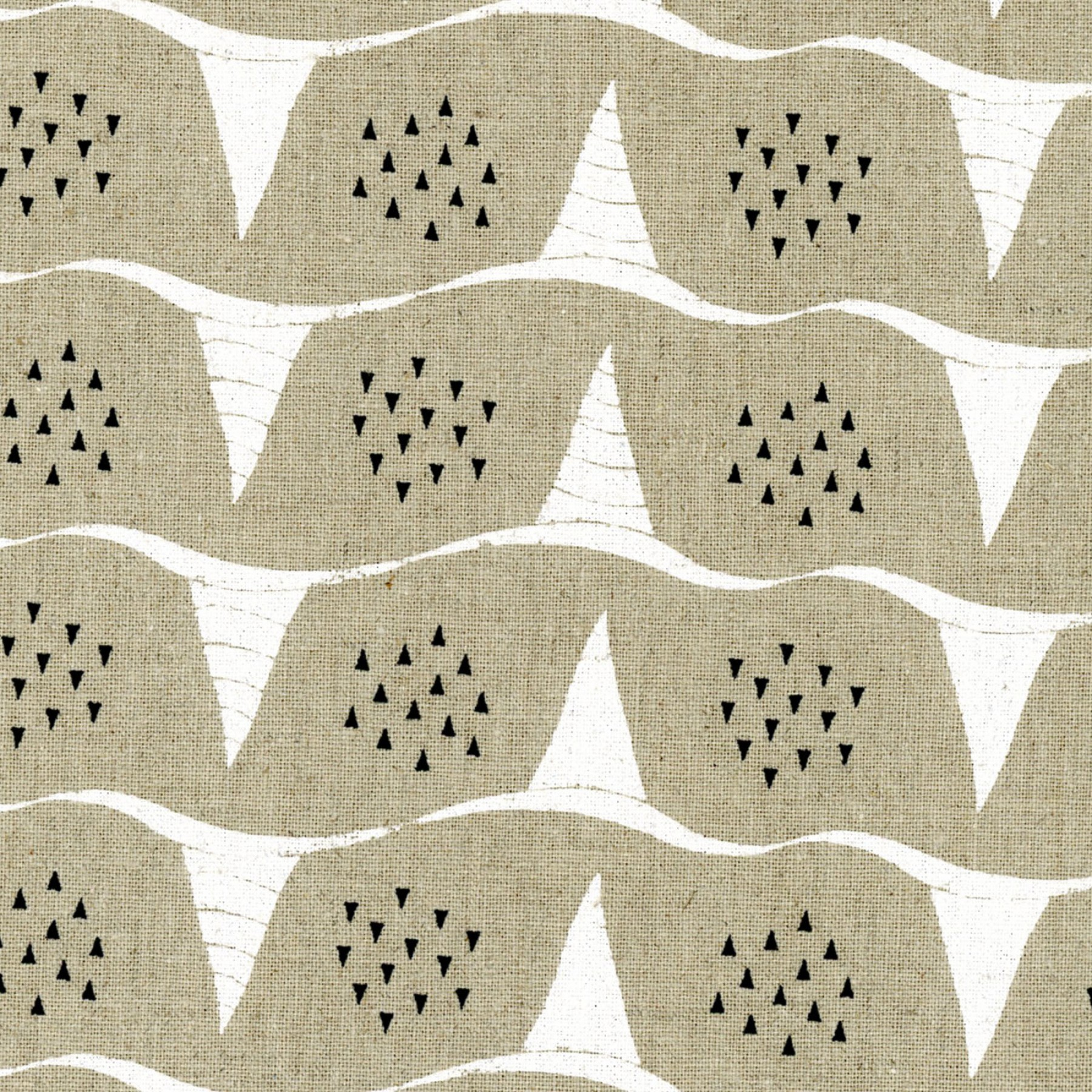 Corn in A-Natural (Cotton Linen Canvas Fabric) by Fabrika Uka from the Tayutou collection for Kokka #kokjg-50900904-A