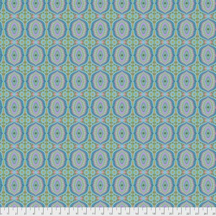 Temple Tiles in Dew (Poplin Fabric) by Amy Butler from the Night Music collection for Free Spirit #CPAB-013-Dew