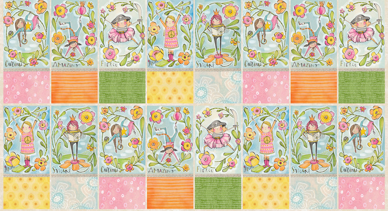 24 panel Girl Power Design by Cori Dantini from the Sugar and Spice collection for Blend #112.118.02.1