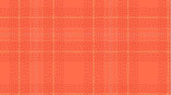 Dash Plaid in Grenadine (Flannel Fabric) by Rae Ritchie from the Winter Cabin collection for Dear Stella #Stella-FRR769