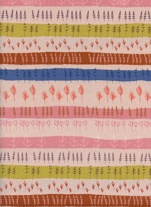 Herb Garden in Peach by Alexia Abegg from the Firelight collection for Cotton and Steel #C51180-01
