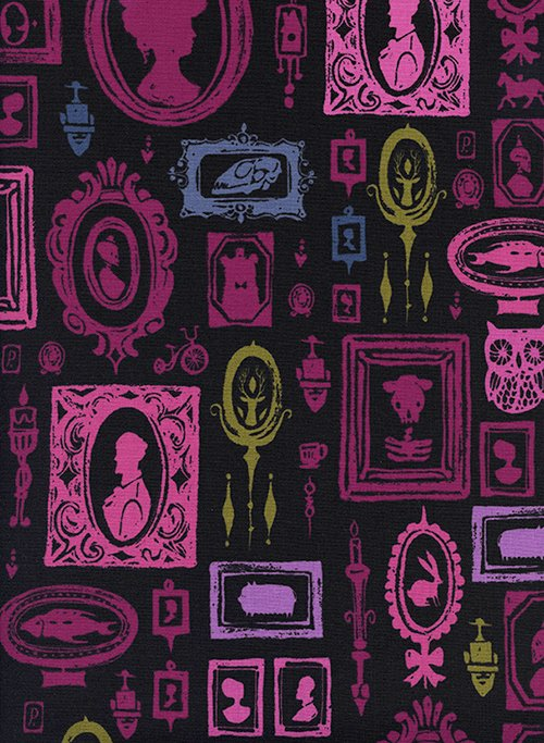 Haunted Hallway in Purple by Sarah Watts from the Eclipse collection for Cotton and Steel #C5191-02