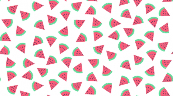 Watermelon in White by Rae Ritchie from the Life's a Beach collection for Dear Stella #Stella-954