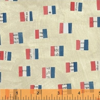 French Flags in Sand by Carrie Bloomston from the Wonder collection for Windham #50518-1